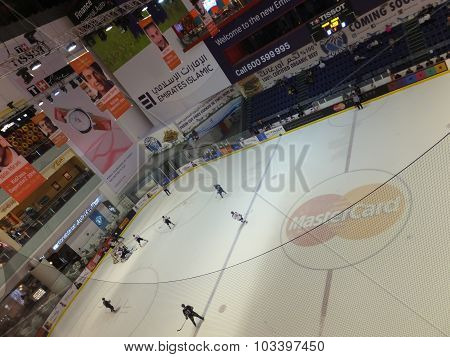 Ice Rink at Dubai Mall in Dubai, UAE