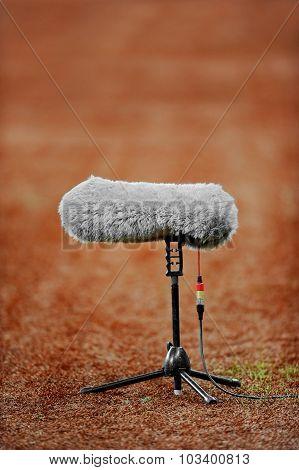 Microphone On Sport Field