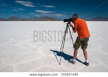 The Photographer, Bonneville Salt Flats Speedway