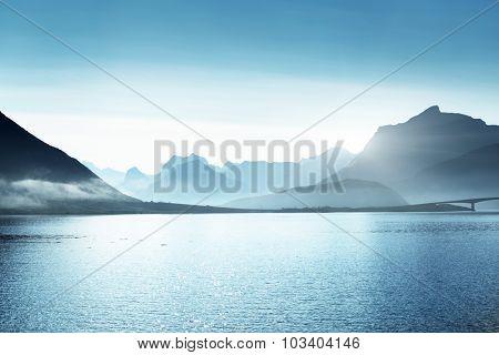 mountains, Lofoten islands, Norway