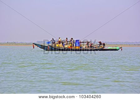 Fishing Boats On Chilika Lake