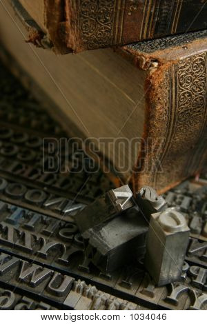 Movable Type With Old Book