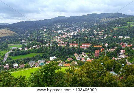 Top View On Banska Stiavnica (slovakia)