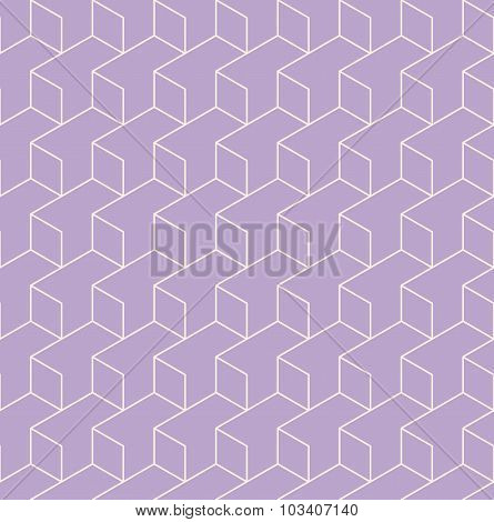 Geometric Seamless Pattern Background With Line And Rhombus.