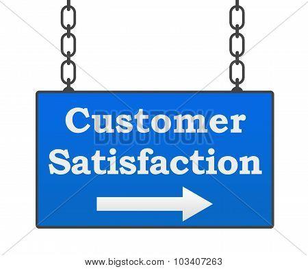 Customer Satisfaction Blue Signboard