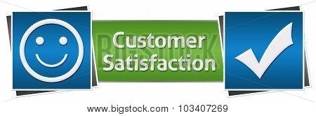 Customer Satisfaction Green Blue Horizontal