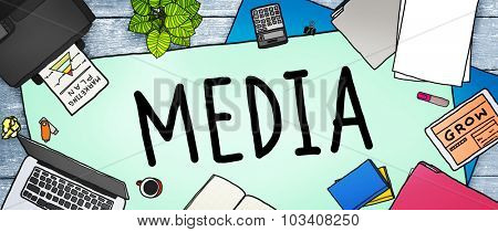 Media Advertising Information Multimedia Sharing Concept