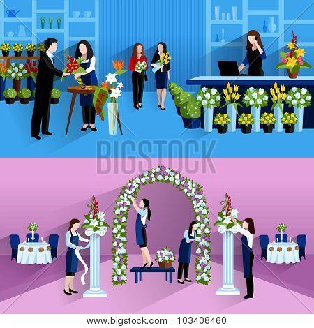 Flowers bouquet arrangement florist service composition