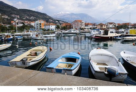 Harbor Of Tivat On A Sunny Day, Montenegro