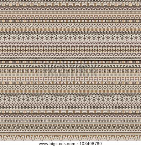 Ethnic Tribal Geometric Striped Pattern