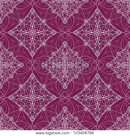 Vintage Ornamental Pattern With Light Decorative Elements