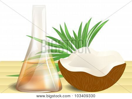 Coconut Oil On Table