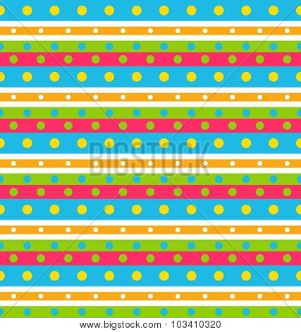 Seamless Geometric Pattern with Stripes and Circles