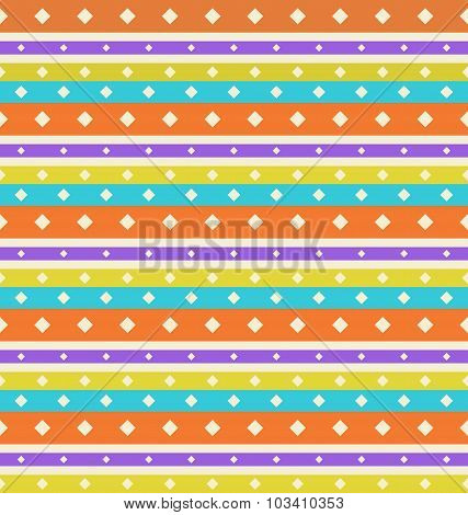 Seamless Vintage texture with Stripes and Circles