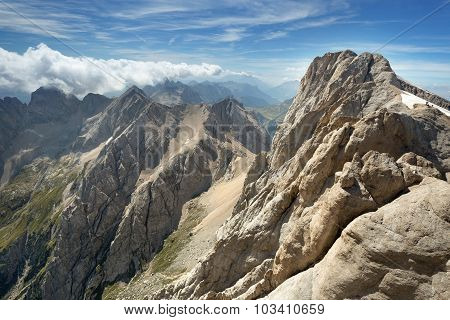 alpine mountain range