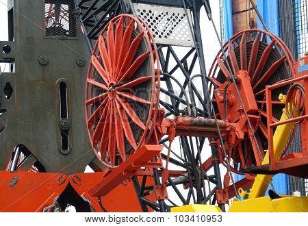 Large Dredging Crane