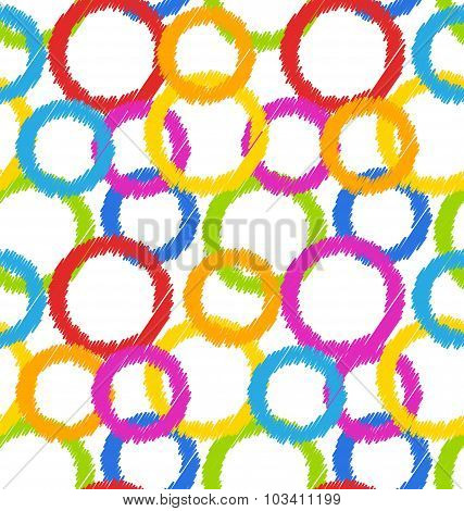 Seamless Geometric Texture, Colorful Background