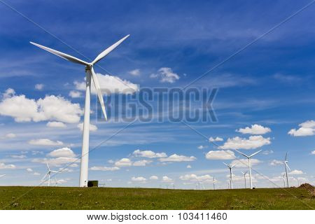 Environmental energy by wind turbines