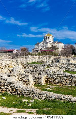 Ruins of ancient Chersonese Crimea