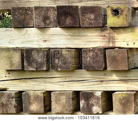 Stack Of Square Lumber