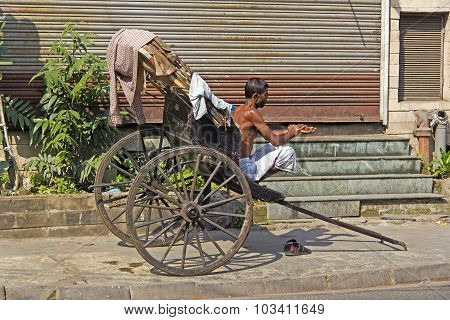 Rickshaw In Calcutta