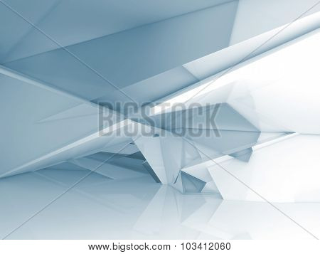 Abstract Interior With Chaotic Polygonal Structure