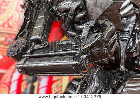 Robot Sculpture Made From Scrap Metal