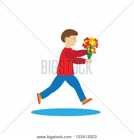 Child With Flowers.