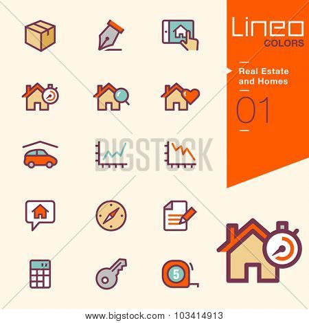 Lineo Colors - Real Estate and Homes icons