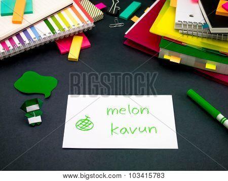 Learning New Language Making Original Flash Cards; Turkish