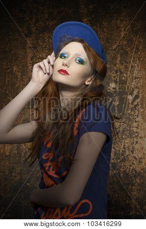 Fashion Shoot Of Urban Style Woman