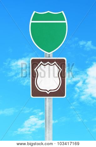 Road Sign Isolated On A White Background.