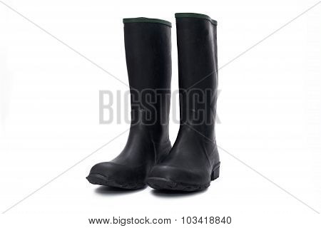 Plastic Waterproof Boots Isolated On A White Background