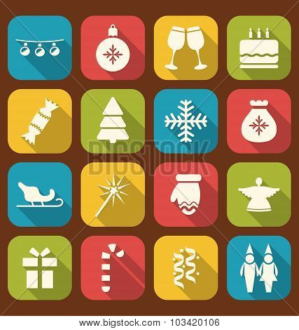Christmas Party Simple Icons