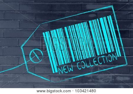 New Collection Code Bar On Product Price Tag
