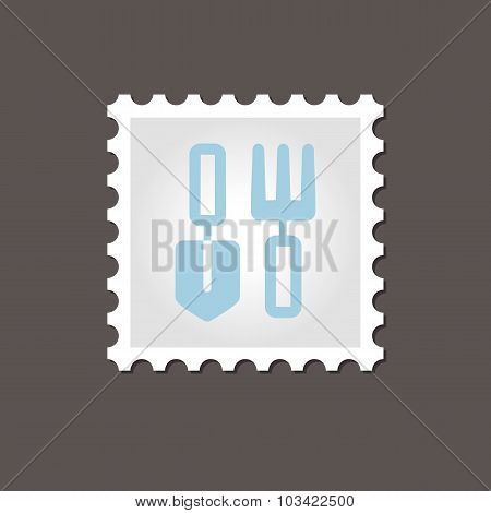 Garden tool stamp. Outline vector illustration