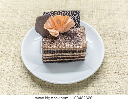 Chocolate Coffee Layered Cake