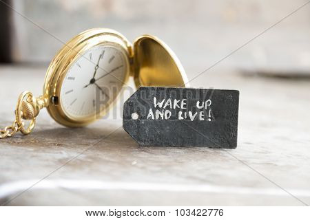 Wake Up And Live And Pocket Watch