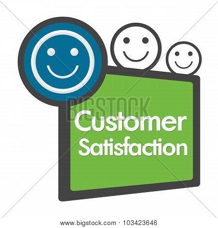 Customer Satisfaction Green Blue Abstract
