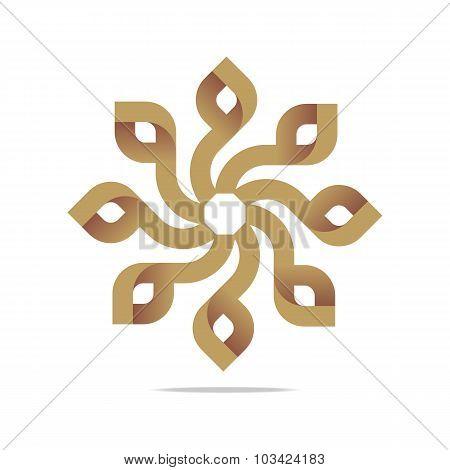 Logo symbol spin design vector