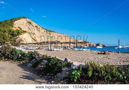 People Sunbathing On The Ibiza Beach
