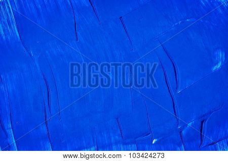 Acrylic Paints Background In Blue Tones. Abstract Shapes And Textures.