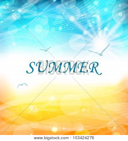 Summer Holiday Background, Glowing Wallpaper