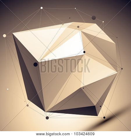 Modern geometric technology style, abstract unusual engineering background, vector technology