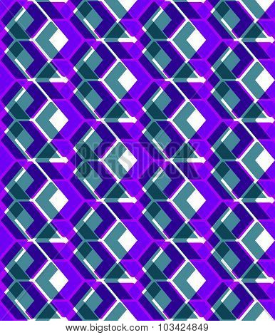 Purple stylized symmetric endless pattern, transparent continuous geometric motif background