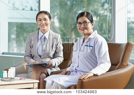 Meeting with pharmaceutical company representative