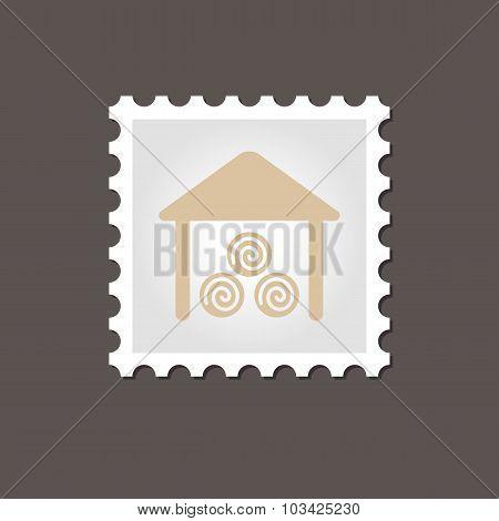 Shed stamp. Outline vector illustration