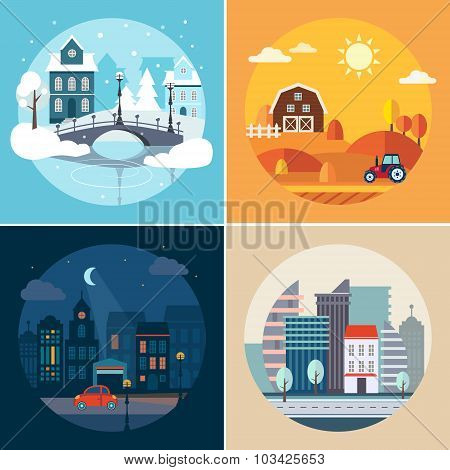 City and Country Landscapes