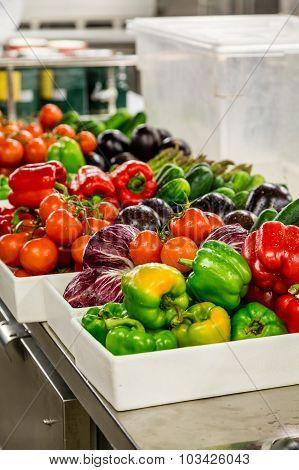 Vegetable Prep In Kitchen