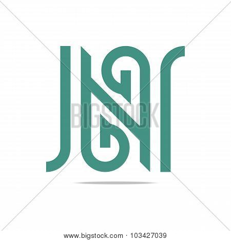 Logo design letter N Icon symbol vector